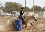 Hannah & Lena kicking up dust at Chiltern Rodeo 2008