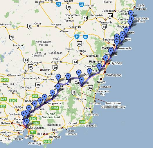 Kempsey to Melbourne ride4acure